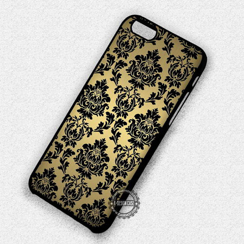 Damask in Gold Pattern - iPhone 7 6 5 SE Cases & Covers
