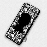 Damask Pattern with Man Silhouette Sherlock Holmes - iPhone 7 6 5 SE Cases & Covers