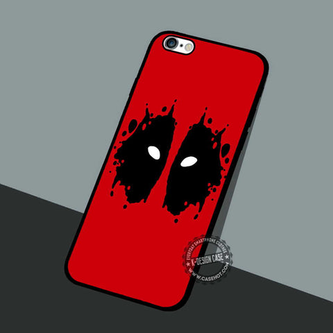 Deadpool Ink Blot - iPhone 7 6 5 SE Cases & Covers