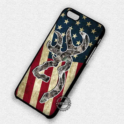 Deer Camo America Flag - iPhone 8+ 7 6s SE Cases & Covers