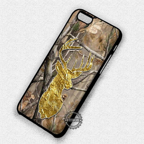 Deer Head Gold Texture - iPhone 8+ 7 6s SE Cases & Covers