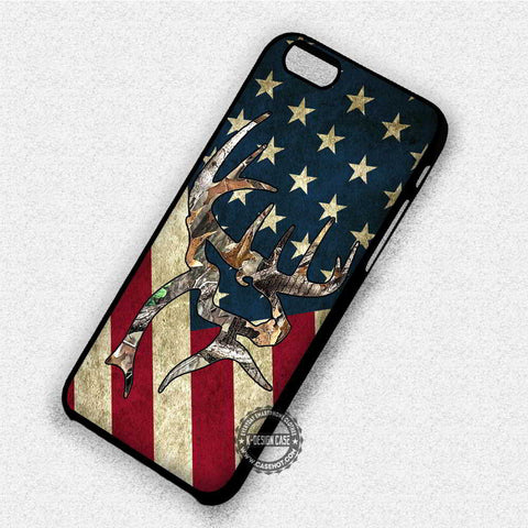 Deer Head American Flag - iPhone 8+ 7 6s SE Cases & Covers