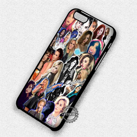 Demi Lovato Collage - iPhone X 8+ 7 6s SE Cases & Covers
