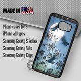 Dragonfly On Full Moon Park - Samsung Galaxy S7 S6 S5 Note 5 Cases & Covers