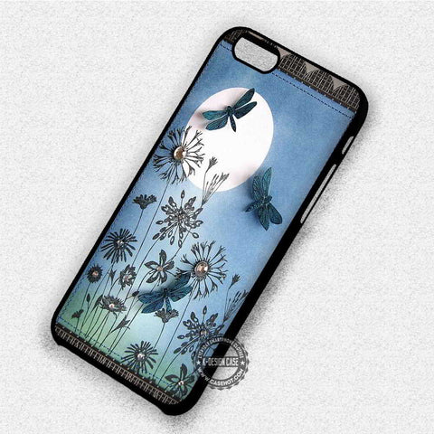 Dragonfly on Full Moon Park - iPhone 7 6 Plus 5c 5s SE Cases & Covers