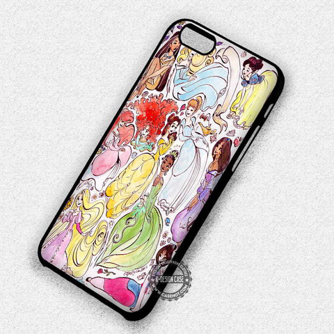 Drawing Art Of Princesses Disney - iPhone 7 6s 5c 4s SE Cases & Covers