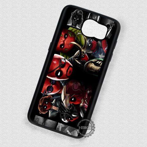 Everyone Becomes Red Deadpool Avengers - Samsung Galaxy S7 S6 S5 Note 5 Cases & Covers