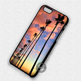 Fall California Palm Trees - iPhone 7 6 Plus 5c 5s SE Cases & Covers