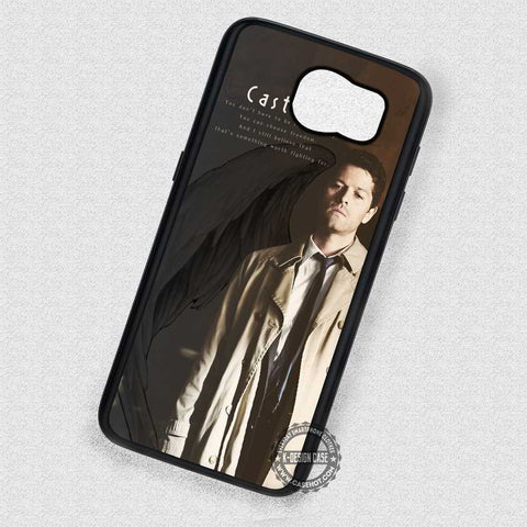 Feathers and Quote Cas Castiel - Samsung Galaxy S7 S6 S4 Note 7 Cases & Covers