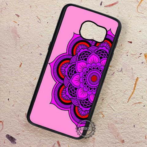 Flower India Mandala Positive Energy - Samsung Galaxy S7 S6 S5 Note 7 Cases & Covers