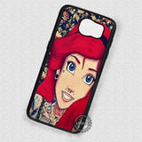 Flowers Tattooed Girl Ariel Punk - Samsung Galaxy S7 S6 S5 Note 4 Cases & Covers