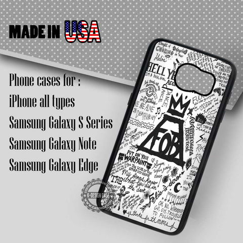 Lyrics Collage Fall Out Boy - Samsung Galaxy S7 S6 S5 Note 5 Cases & Covers