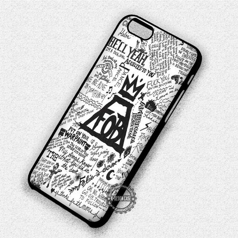 Fall Out Boy Lyrics Collage - iPhone 7 6 Plus 5c 5s SE Cases & Covers