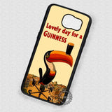 Funny Bird Guiness Vintage - Samsung Galaxy S7 S6 S5 Note 5 Cases & Covers