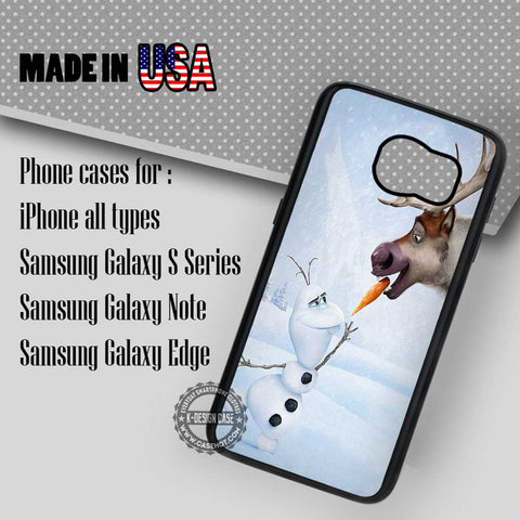 Funny Snowman and Deer - Samsung Galaxy S7 S6 S5 Note 5 Cases & Covers
