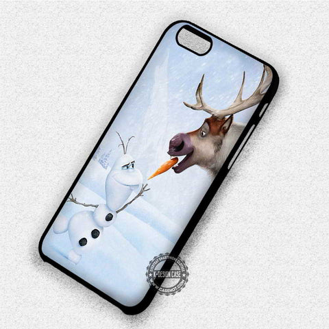 Funny Snowman and Deer - iPhone 7 6 Plus 5c 5s SE Cases & Covers