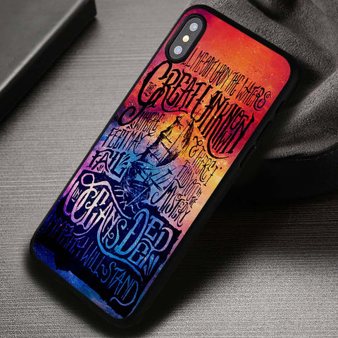 Galaxy Ocean Quotes Hillsong United - iPhone X Case
