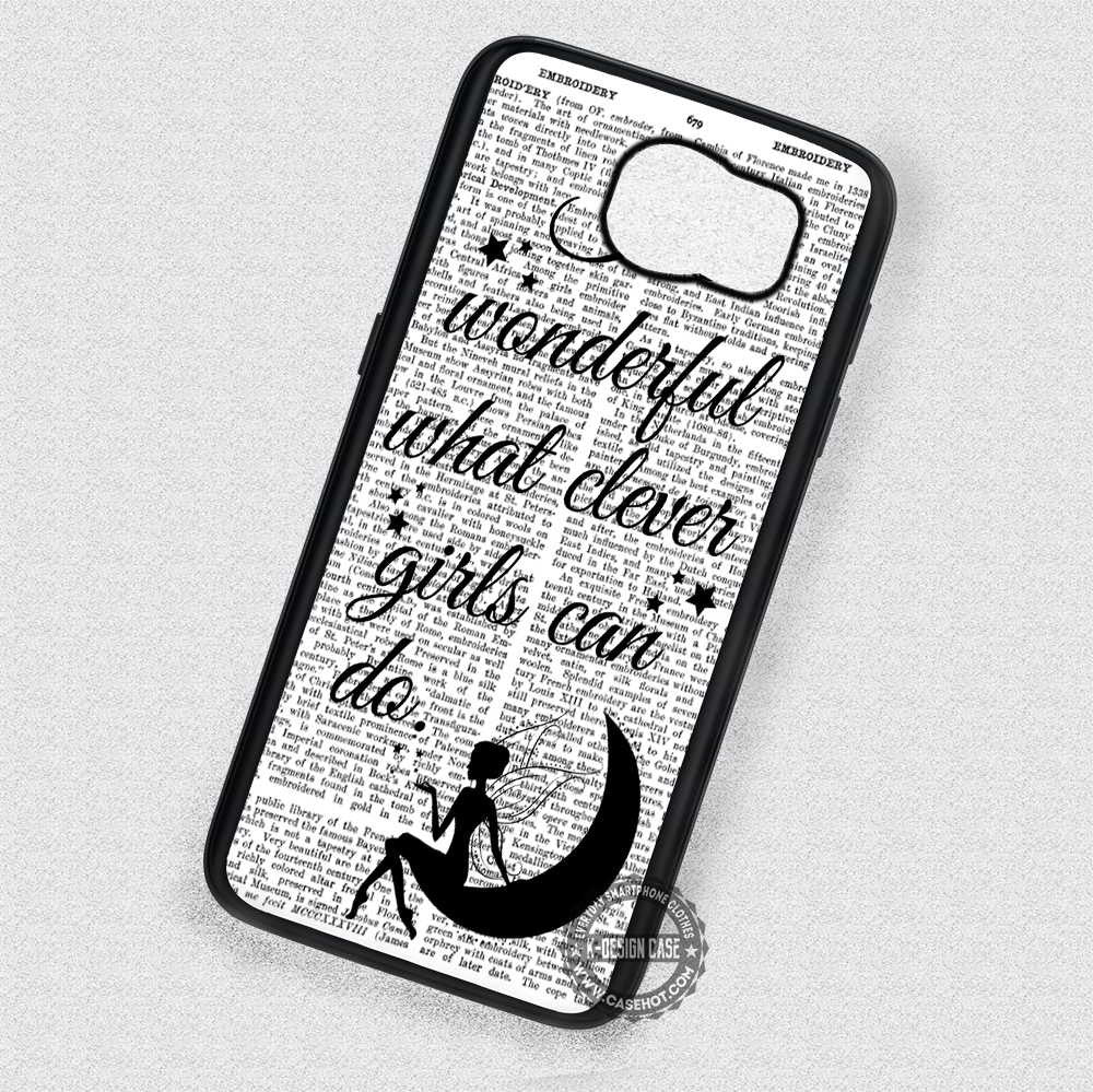 girl quotes peter pan vintage samsung galaxy s7 s6 s4 note 7 cases covers