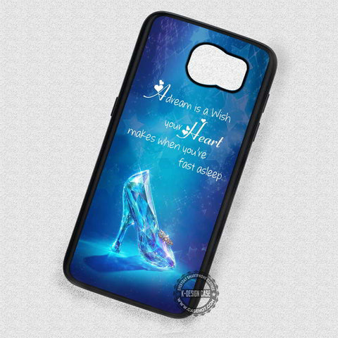 Glass Shoe Cinderella Quote - Samsung Galaxy S7 S6 S5 Note 4 Cases & Covers