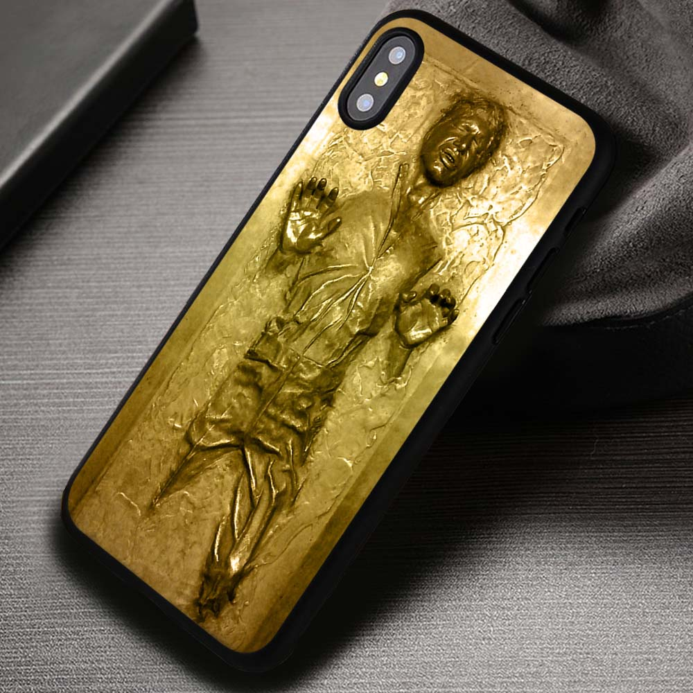 the latest bbc5f 75670 Golden Star Wars Han Solo - iPhone X 8+ 7 6s SE Cases & Covers #iPhoneX