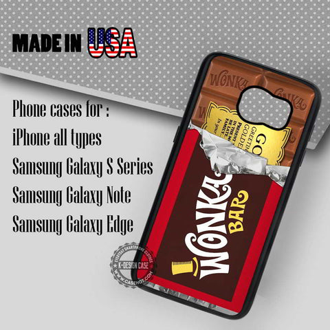 Golden Ticket Chocolate Bar - Samsung Galaxy S7 S6 S5 Note 5 Cases & Covers