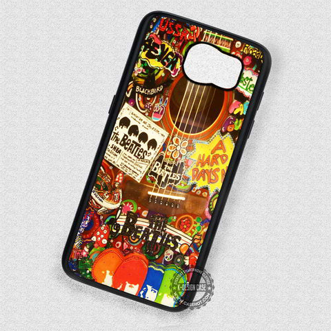 Stickers Collage The Beatles Guitar  - Samsung Galaxy S7 S6 S5 Note 7 Cases & Covers