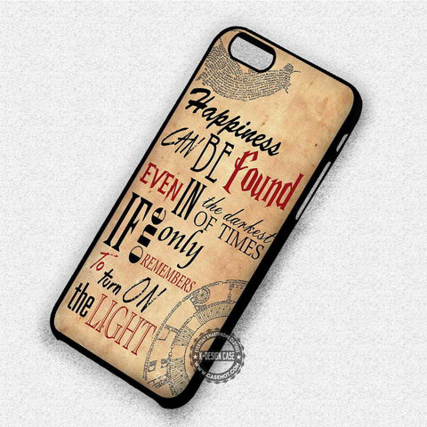 Happiness on Paper Quote - iPhone 7 6 Plus 5c 5s SE Cases & Covers
