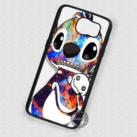 Holding a Plush Toy Stitch - Samsung Galaxy S8 S7 S6 Note 8 Cases & Covers