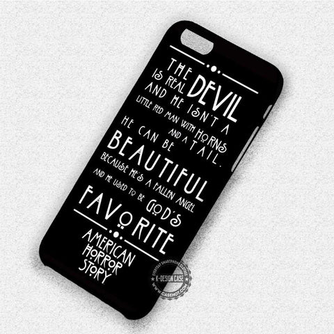 Horror Quote Evan Peters - iPhone 7 6 Plus 5c 5s SE Cases & Covers