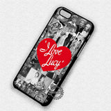 I Love Lucy Collage - iPhone X 8+ 7 6s SE Cases & Covers