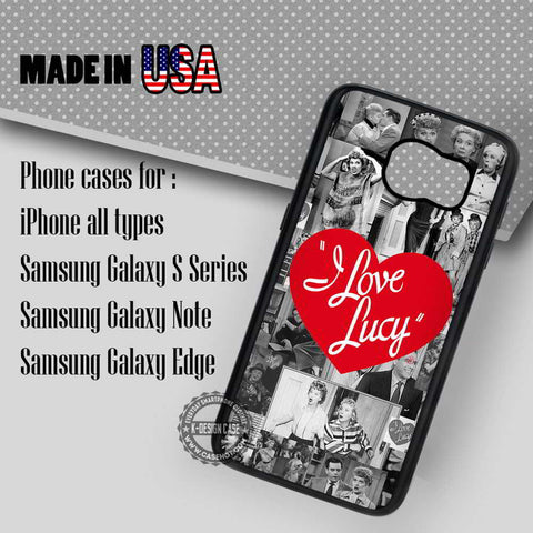 I love Lucy Collage - Samsung Galaxy S7 S6 S5 Note 5 Cases & Covers