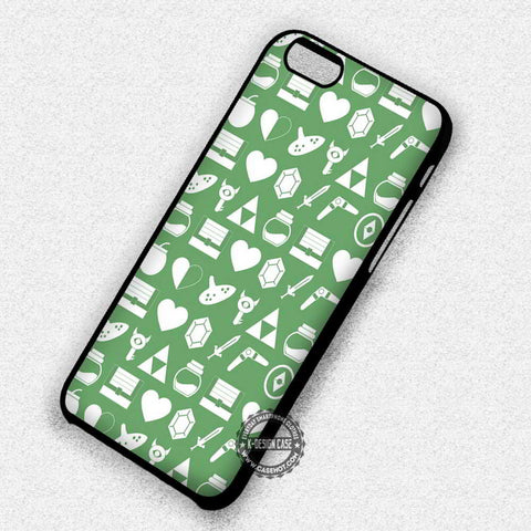 Green Pattern Legend of Zelda - iPhone 7 6 Plus 5c 5s SE Cases & Covers