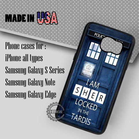 Locked Sherlock Holmes Tardis - Samsung Galaxy S7 S6 S5 Note 5 Cases & Covers