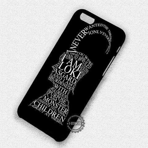 Loki Quote Head - iPhone X 8+ 7 6s SE Cases & Covers