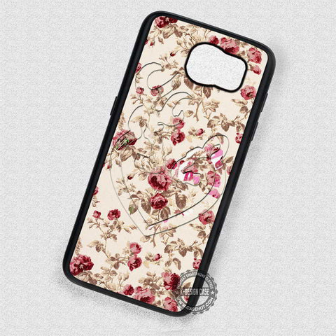Love Browning Deer in Floral - Samsung Galaxy S4 S6 S7 Note 4 Cases & Covers