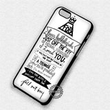 Lyric Art Band - iPhone 7 6 Plus 5c 5s SE Cases & Covers