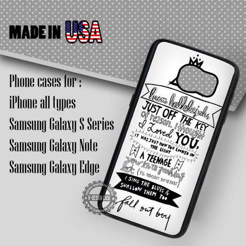 Lyric Art Band - Samsung Galaxy S7 S6 S5 Note 5 Cases & Covers