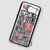 Lyric Collage Music Pierce the Veil  - Samsung Galaxy S7 S6 S5 Note 7 Cases & Covers