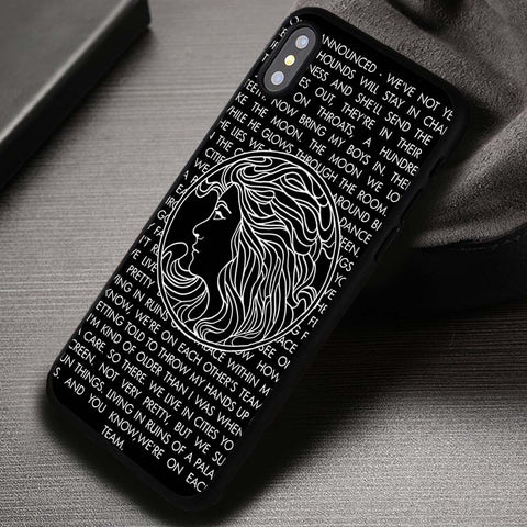 Lyric Quote in Black Symbol - iPhone X Case