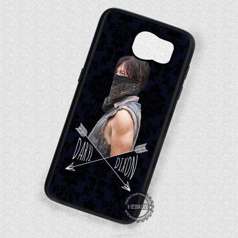 Man Damask Pattern Daryl Dixon  - Samsung Galaxy S7 S6 S5 Note 4 Cases & Covers