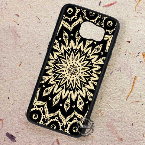 Mandala Energy Starry Flower - Samsung Galaxy S7 S6 S5 Note 7 Cases & Covers