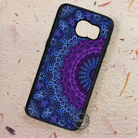 Mandala Twilight Hot Datura Purple - Samsung Galaxy S7 S6 S5 Note 7 Cases & Covers