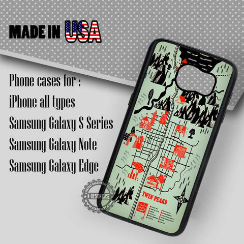 Map Twin Chevron Floor - Samsung Galaxy S7 S6 S5 Note 5 Cases & Covers