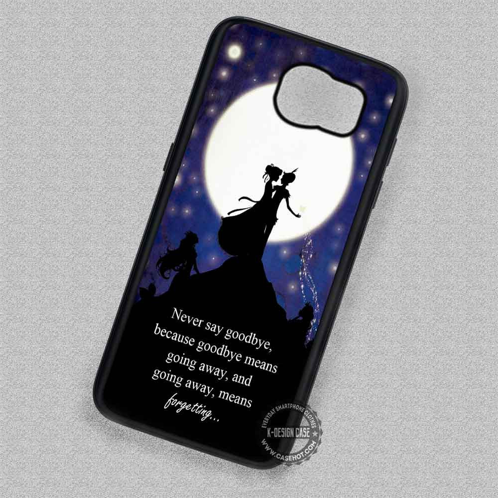 new concept 82f56 e56e9 Moon Quotes Peter Pan Wendy Tinkerbell - Samsung Galaxy S7 S6 S5 Note 5  Cases & Covers