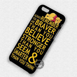 Nursery Quote Winnie The Pooh - iPhone 7 6 Plus 5c 5s SE Cases & Covers
