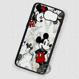 Old Image Collage Mickey Mouse - Samsung Galaxy S7 S6 S5 Note 4 Cases & Covers