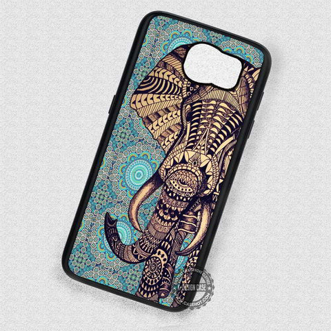 On Mosaic Pattern Aztec Elephant - Samsung Galaxy S7 S6 S5 Note 7 Cases & Covers