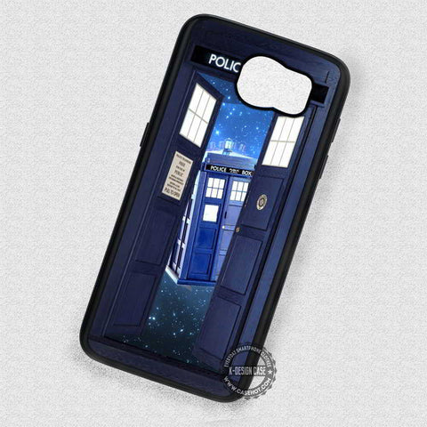 Open The Door Tardis Police Box - Samsung Galaxy S7 S6 S5 Note 5 Cases & Covers