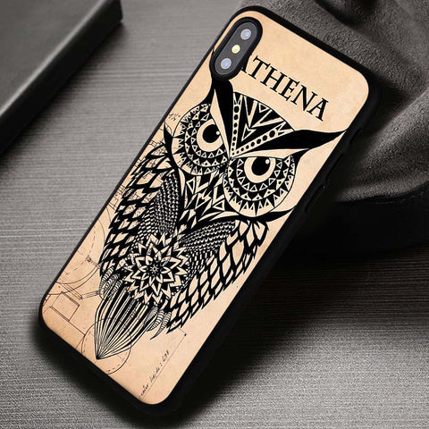 Owl Schema Athena Percy Jackson - iPhone X Case