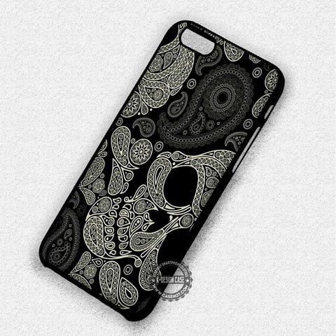 Paisley Skull Black White - iPhone 7 6S 5C SE Cases & Covers